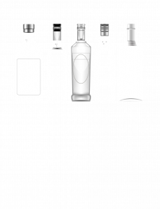 Clear product bottles