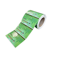Sample roll of hemp product labels