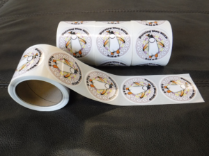 Penguin Sticker Label Rolls for Burning Man