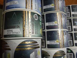 Custom Metallic Foil Labels