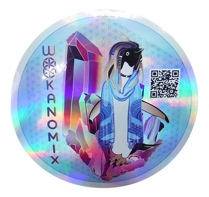 Rainbow holographic chrome metallic custom labels
