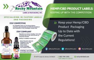 Ad for Hemp and CBD Product Labels